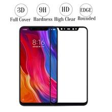 9H 3D Curved Full Cover MI8 SE Tempered Glass Screen Protector for Xiaomi MI8 Glass for xiaomi MI 8 full Screen Protective film