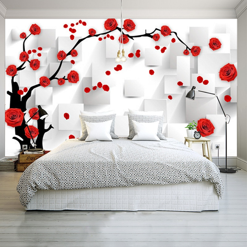 Wallpapers Youman Customize Photo Wallpaper Rose 3D Mural Wall Paper For Living Room Wallpaper Home Decor Papel De Parede 3D