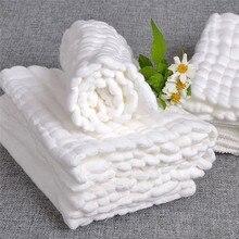 1 Stuk Baby Bad Handdoeken 100% Katoen Gaas Solid Soft Pasgeboren Baby Handdoeken Baby Gezicht Body Care Ultra Sterke wateropname
