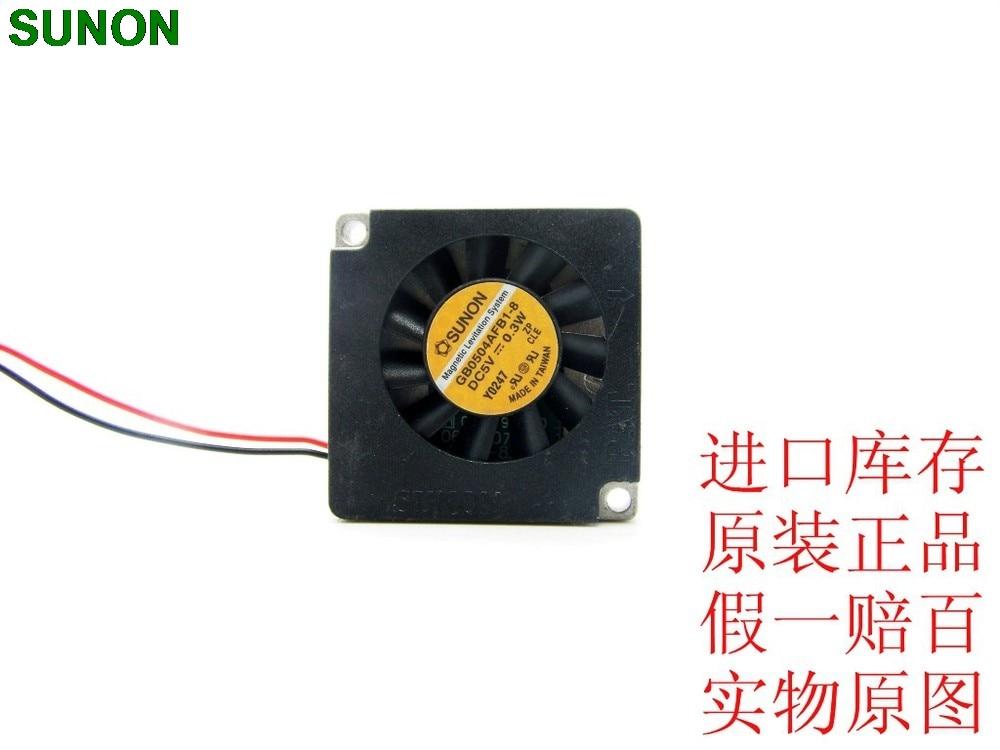SUNON DC 5 V 0,3 Watt GB0504AFB1-8 aluminium radialventilator gebläse 4007