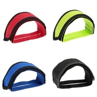 1 pair fixed gear bmx bike bicycle anti slip double adhesive straps pedal toe clip strap belt 4 colors