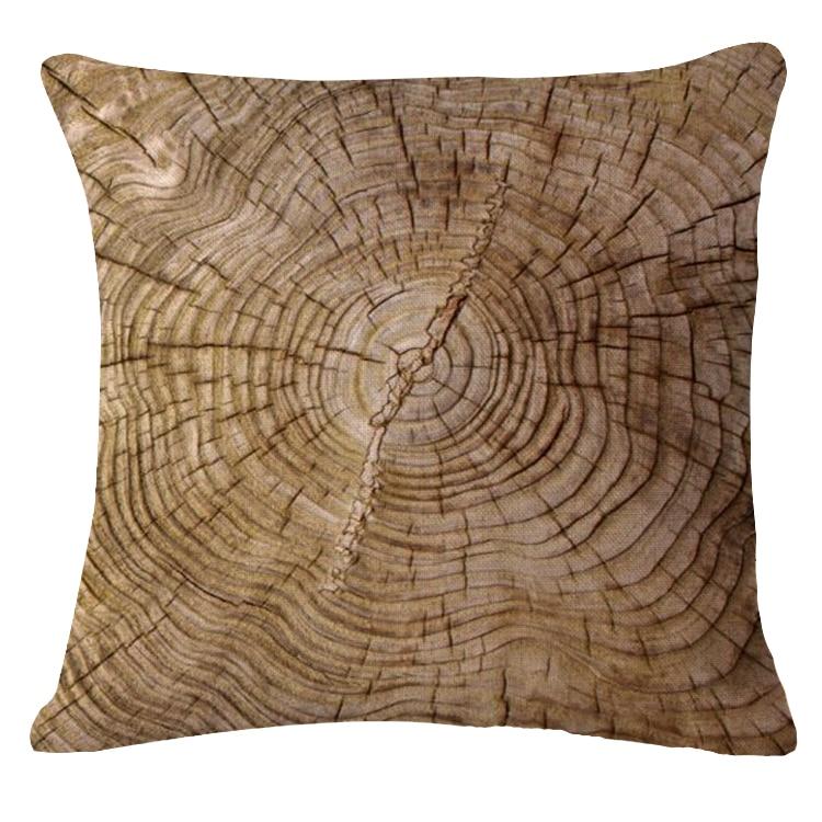 Beautiful Long Wood Cushion Cover Print Linen Affection Sofa Car Seat Family Home Decorative Throw Pillow Case Housse De Coussin