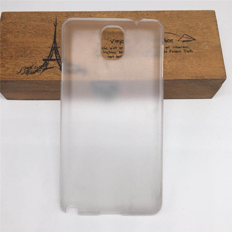 Funda dura mate transparente para Samsung Galaxy Note 3 Note3 N9000 N9005 funda protectora trasera de teléfono media funda bolsa Fuda Capa