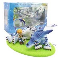 Klejnot Digimon Adventure Garurumon i Yamato pcv figurka – model kolekcjonerski zabawki