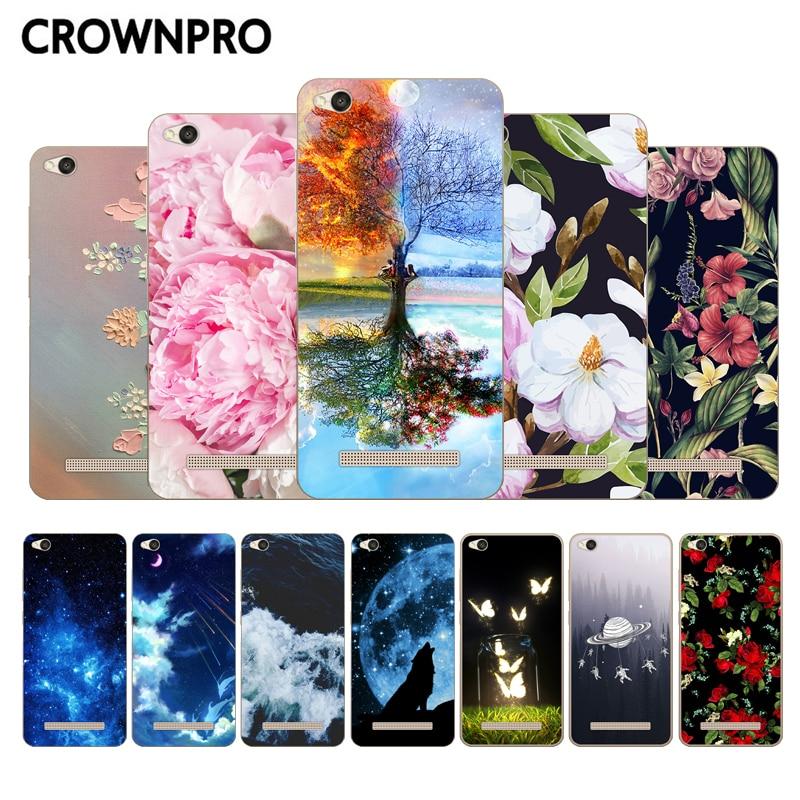 CROWNPRO Case Silicone For Xiaomi Redmi 4A Back Cover Soft TPU For Xiaomi Redmi 4A Redmi4A Phone Cases
