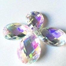150 PCS/LOT 38mm AB couleur cristal lustre suspendus perles cristal prisme Suncatcher cristal coupe gouttes