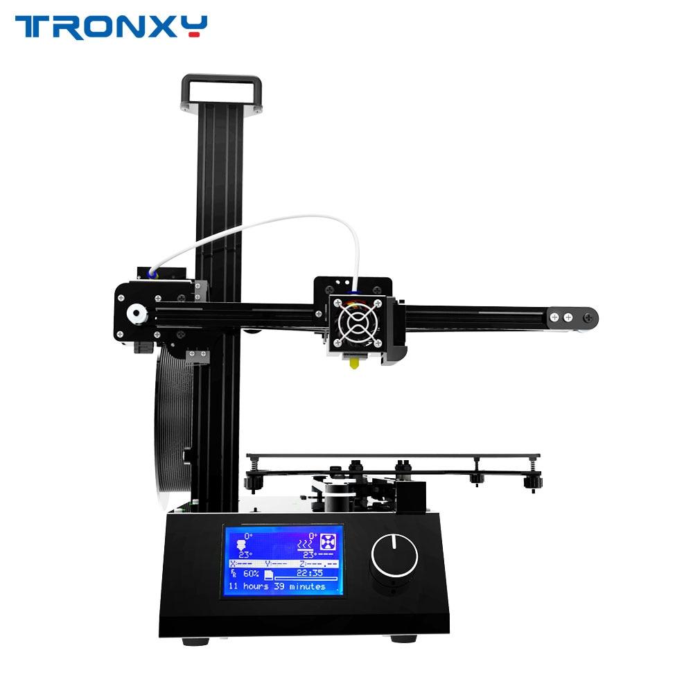 Impresora Tronxy X2 3D Diy máquina de Arquitectura de extrusión ensamblada rápida Reprap impresora tamaño 220*220*220mm