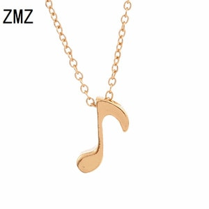 ZMZ 50pcs/lot 2018 Europe/US fashion cute musical note pendant romantic music necklace gift for mom/girlfriend party jewelry