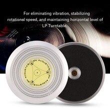 50/ 60Hz détection de vitesse de niveau à bulles haute qualité en alliage daluminium platine vinyle LP disque stabilisateur pince