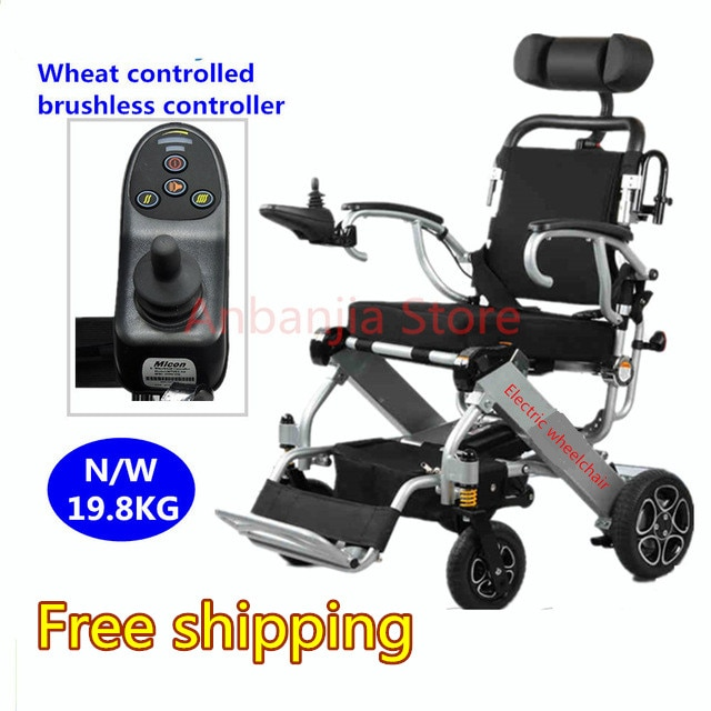 Approbation de la CE de fauteuil roulant électrique léger portatif se pliant de puissance déquipement médical dalliage daluminium