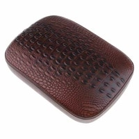 alligator emboss leather seat with 8 suction cup for chopper bobber motorcycle accessories