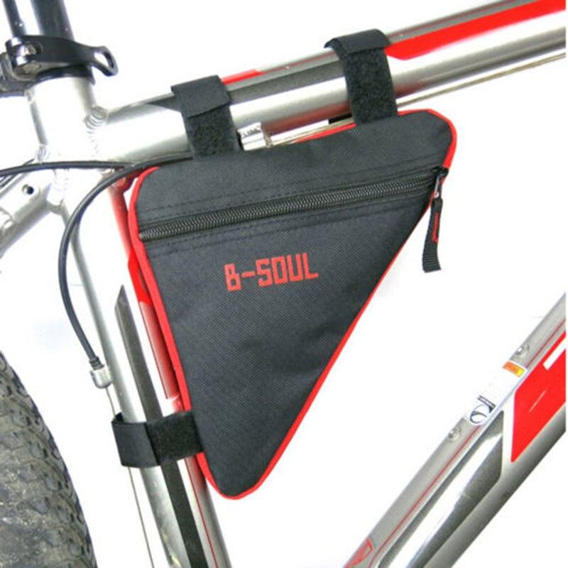 4 cores da bicicleta ciclismo saco tubo dianteiro quadro do telefone à prova dwaterproof água sacos triângulo bolsa quadro titular bycicle acessórios