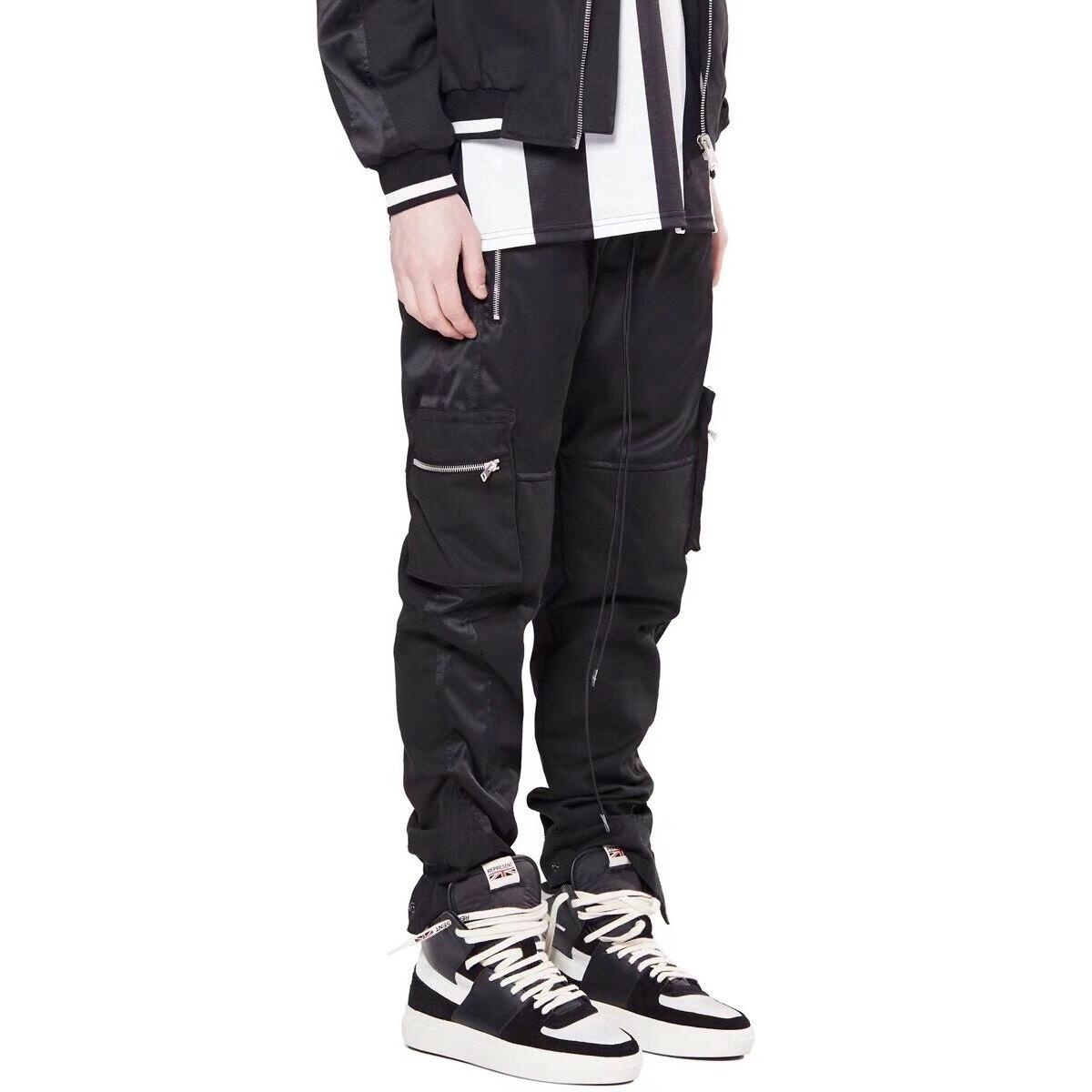 Kanye West negro función de carga pantalones de hip hop para hombres de pantalones de sudor Multi-Bolsillo de botín Cargo para correr Pantalones
