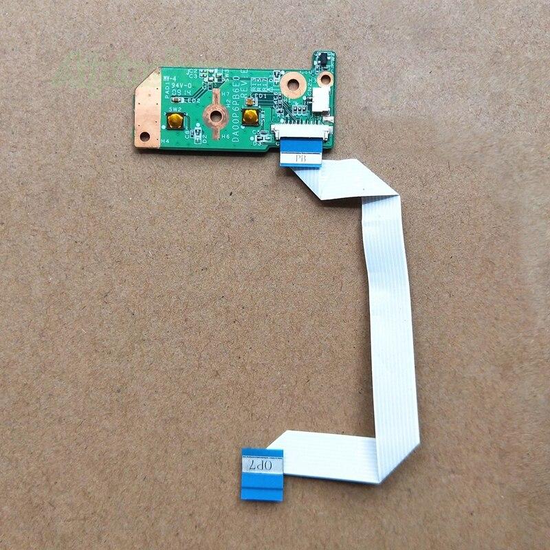 Placa del botón del interruptor de encendido con Cable para HP Compaq CQ61 CQ71 G61 G71 serie DA00P6PB6E0
