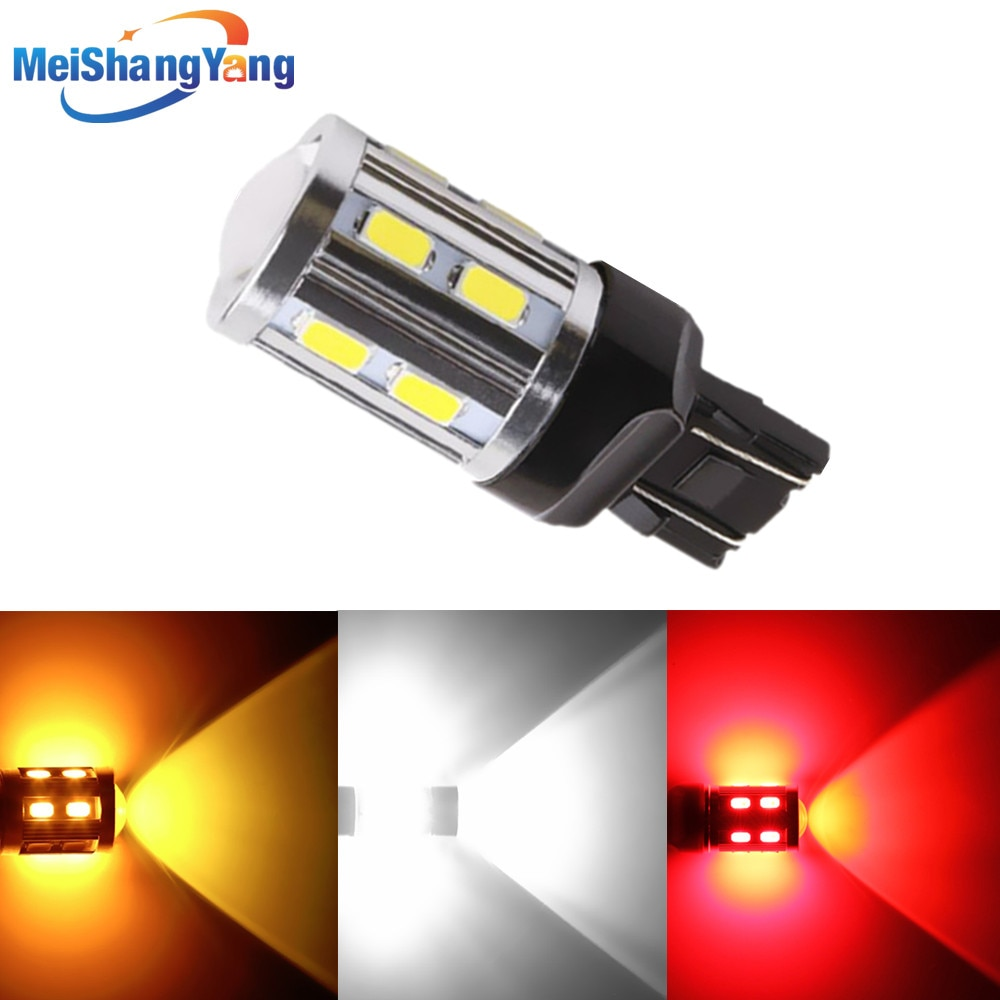 Car Lights 7443 7440 3157 3156 1156 1157 BA15S BAY15D LED Bulbs White W21/ 5W High Power Brake Turn Signal Auto Lamps 12V RED