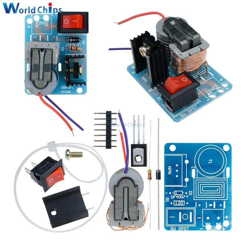 Kits DIY 15KV 15000V DC generador de presión de alto voltaje Kit de encendedor Módulo de aumento bobina de alta frecuencia transformador controlador