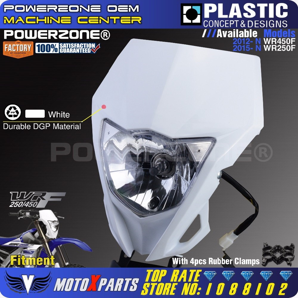 Фара для мотоцикла Powerzone YAMAHA WR250F 2015-2018 WR450F 2018 MX Enduro Dirt Bike Универсальный CRF YZF DRZ KLX