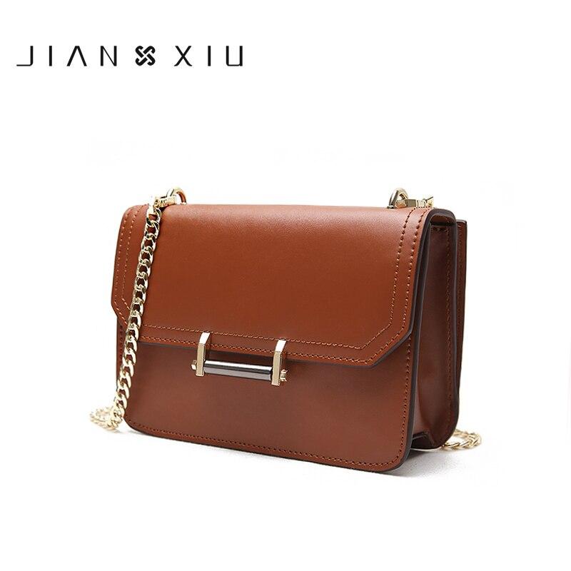 Jiأكمام u العلامة التجارية المرأة حقيبة ساع الكتف الإناث Crossbody 2019 جديد سلسلة محفظة صغيرة انقسام حقيبة الجراب الجلدية حقيبة صغيرة لونين