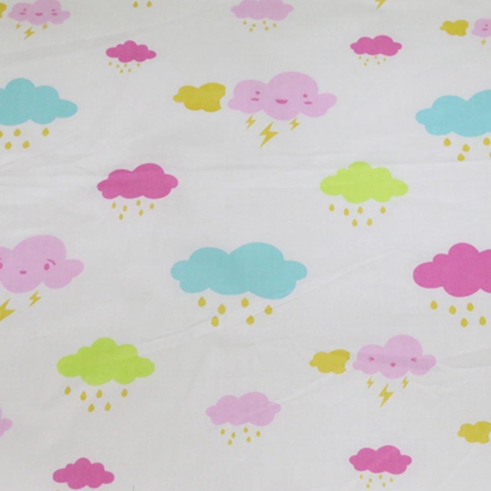 100% sarga de algodón viento nórdico Rosa fresco NUBES AZULES ropa de lluvia para DIY sábana infantil ropa de cama tela decoración del hogar telas