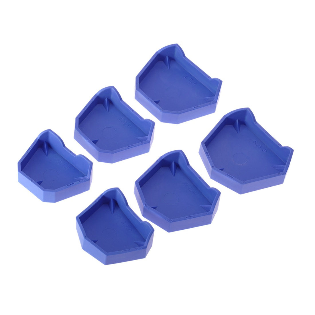 Набор для стоматологической модели, 2 шт., 3 размера, основа для стоматологической формы, гипсовая основа, лоток для протезов, гигиена полости рта, стоматологическая лаборатория, бывший базовый набор