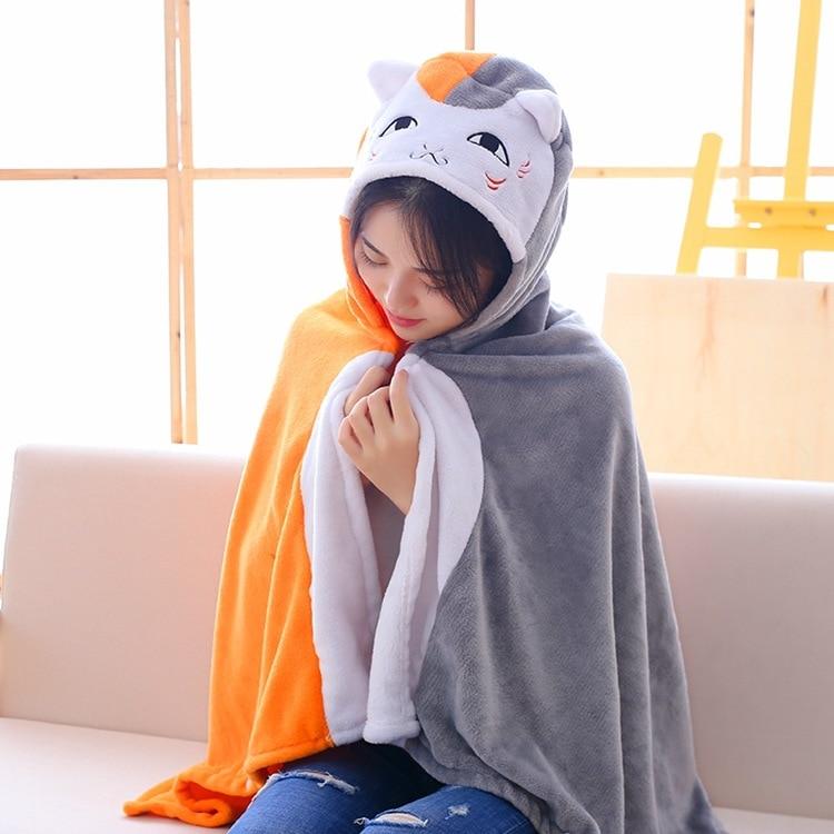 Anime Natsume Yuujinchou Nyanko Sensei Cat Totoro Cloak Hoodies Flannel Coat sensei Cat Doma Cape Cosplay Costume