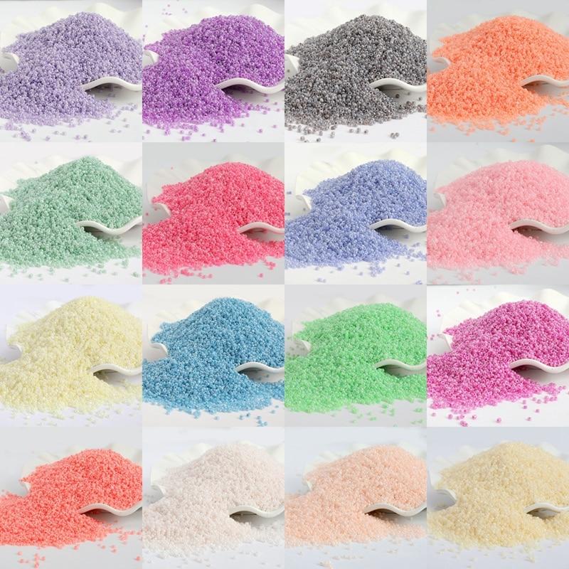 1000pcs/lot 2MM Candy Cream Color Czech Glass Sand DIY Beads Round Hole Beads For Kids Handmade Jewe