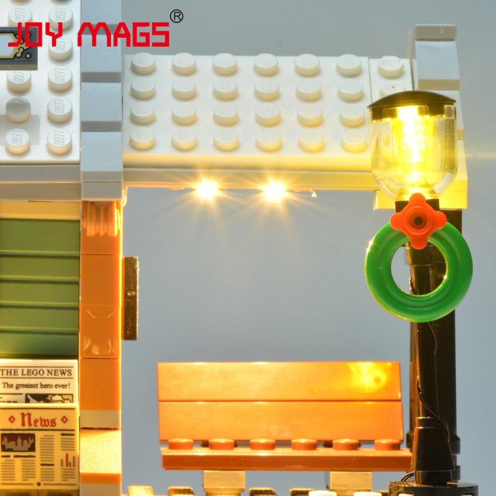Купить с кэшбэком JOY MAGS Led Light Kit For 10259 Creator Expert Winter Village Station Compatible with Model 36011 , NO Blocks Model