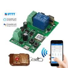 USB DC5V V 24V 12V 32V RF 433Mhz Wifi interruptor módulo de relé inalámbrico Módulos de Automatización de domótica aplicación remota interruptor de Control