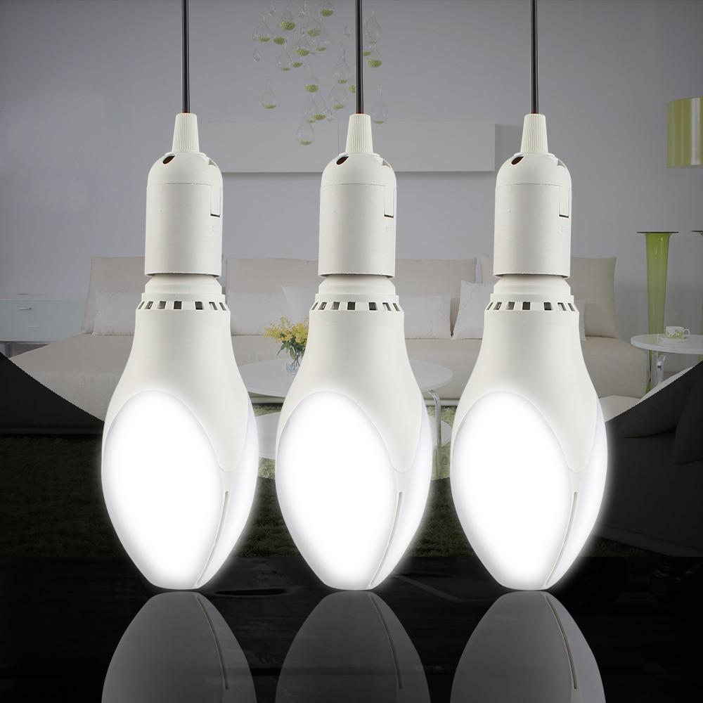 Lâmpada led e27 ac 85-265 v 18 w 110 v 120 v 130 v 220 v forma de rugby lâmpada led lâmpadas lampada iluminação interior bola