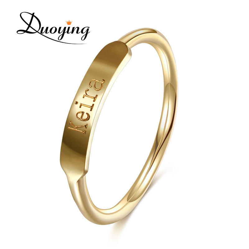 DUOYING пары пользовательское Кольцо Имя Выгравированный Выпускной подарок стили простоты минимализм обещание медное кольцо для Etsy