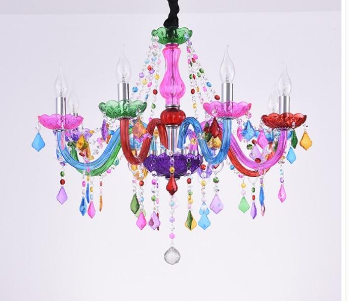 Candelabro decorativo de colores, candelabro bohemio, lustres de cristal, decoración Tiffany, colgantes...