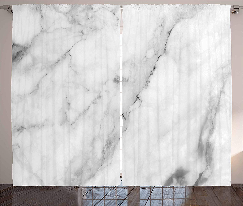 Cortinas de mármol con motivo de superficie de granito, efecto natural y grietas, estilo antiguo, cortinas de ventana para sala de estar, dormitorio