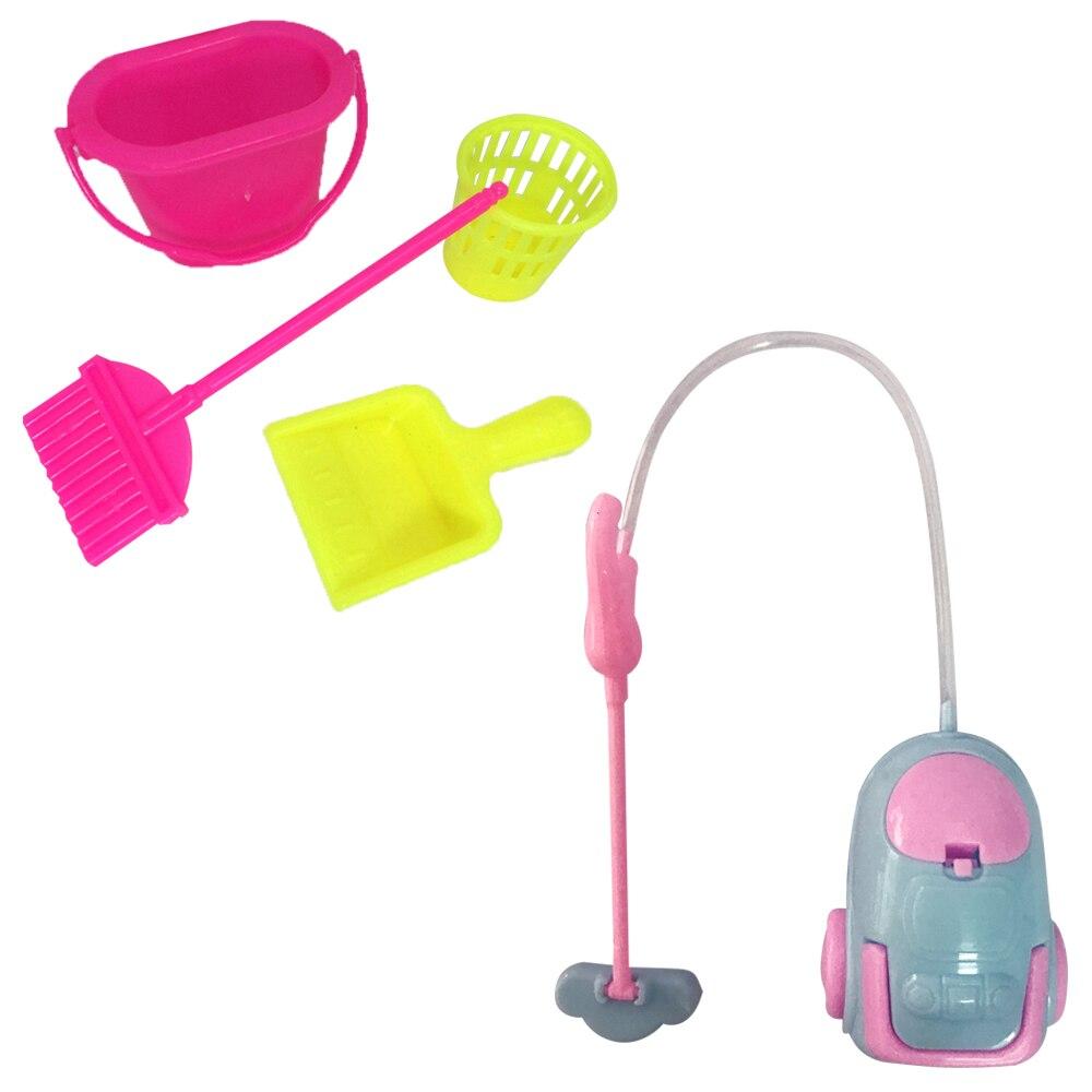 Набор из 1 пластмассовые аксессуары для кукол NK, набор для чистки кукол для девочек, инструменты для домашней уборки кукол Барби, лучший подарок для ребенка DZ
