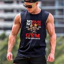 Mens Bodybuilding Cartoon Tank Top Gym Fitness Losse Katoenen Mouwloos Shirt Anime Kleding Stringer Singlet Mannelijke Vest