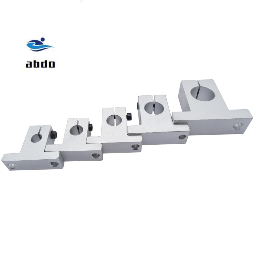 Alta calidad 10 unids/lote envío gratis SK12 12mm soporte de eje de carril de rodamiento lineal XYZ Mesa CNC enrutador SH12A