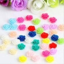 20 pcs/lot perles de fleur de Rose de corail de camélia de couleur mélangée perles despacement de corail décoratives perles de Cabochon pour la fabrication de bijoux à bricoler soi-même Z118