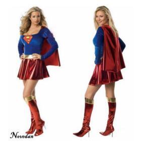 Костюм Супермена для взрослых и девочек, костюмы на Хэллоуин 2017, супергероя, костюм супердевушки, сексуальное нарядное платье