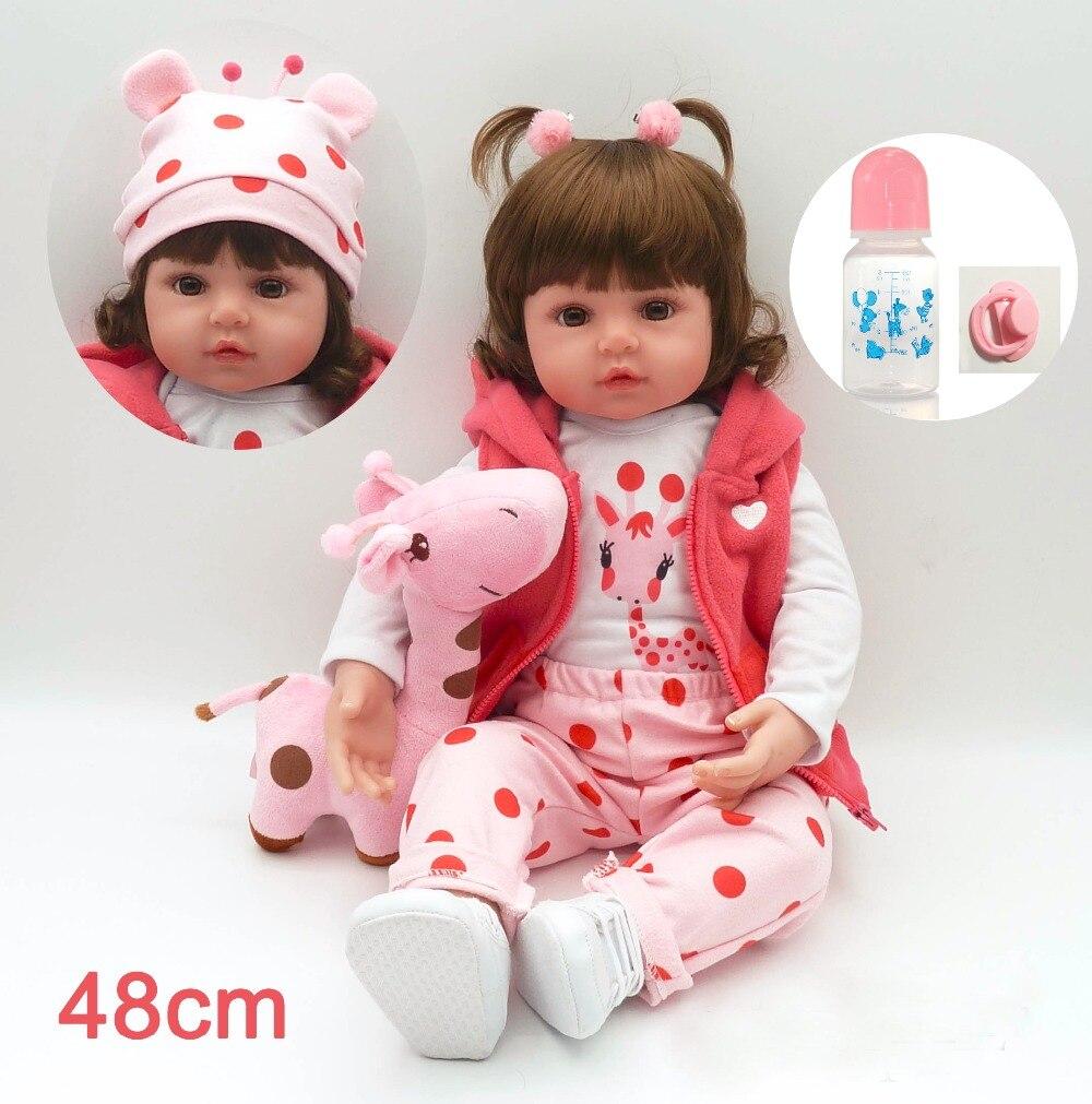 Muñeca de juguete Reborn de silicona de 42/48 cm con Niña de algodón de PP, bebés de princesas rubias recién nacidas, juguete diy, regalo sorpresa, Presen de Navidad