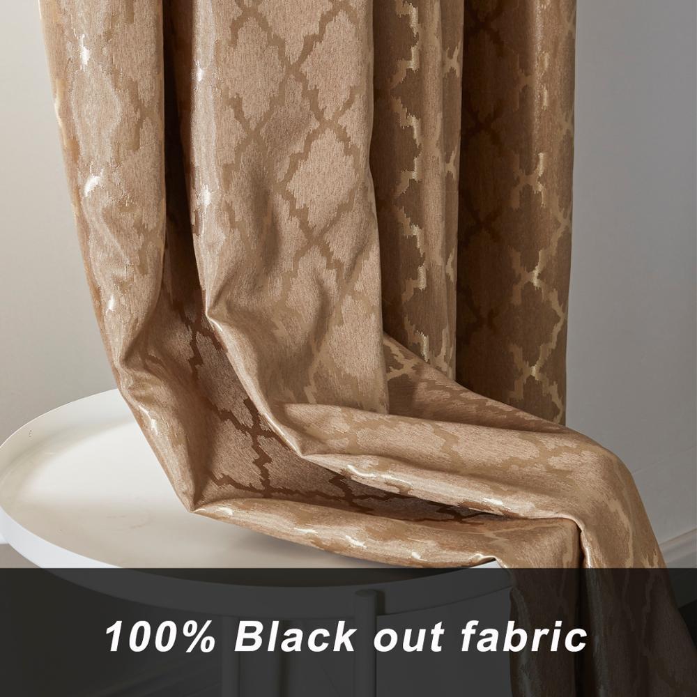 Gigiziz-ستائر نوافذ حرارية ، أسود ، أبيض ، بني ، جاكار ، لغرفة المعيشة ، 100%