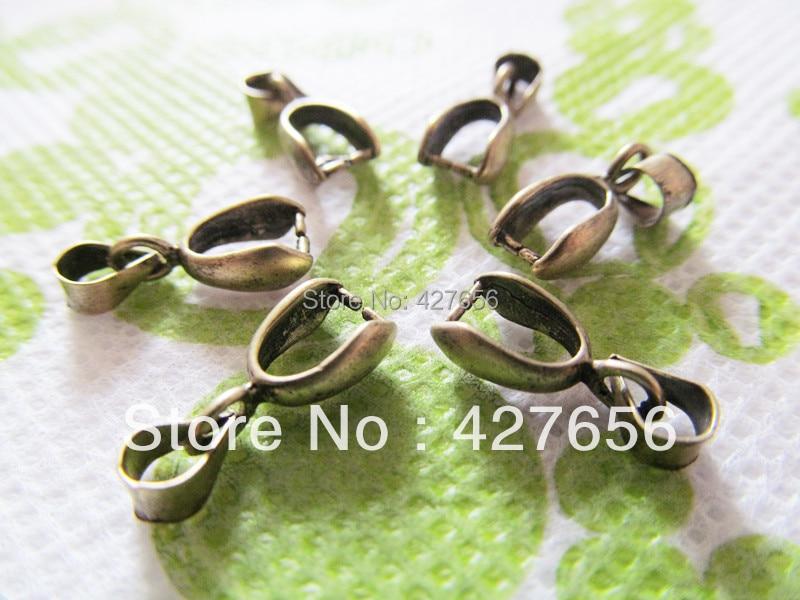 20pcs 6mmx15mm Good Antique Bronze/Silver tone Bails Beads Connector Pendant Cham Finding,Fit Charm Bracelet Necklace,Accessory