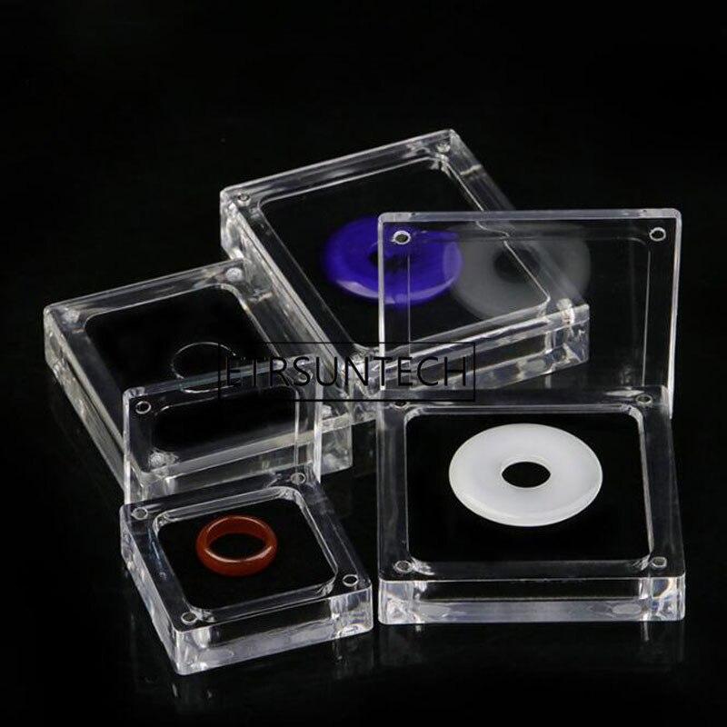30 قطعة واضح الاكريليك مربع مستطيل جوهرة الأحجار الكريمة حامل الخرز مجوهرات علب عرض الزفاف الماس حقيبة للتخزين النعش