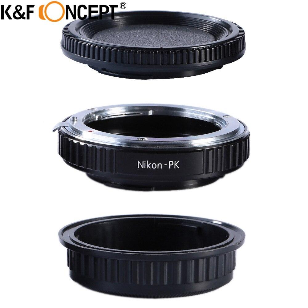 K & F Concepto para Nikon-PK anillo adaptador de lente de cámara con cristal óptico apto para lentes Nikon a para Pentax K montaje cuerpo de la cámara