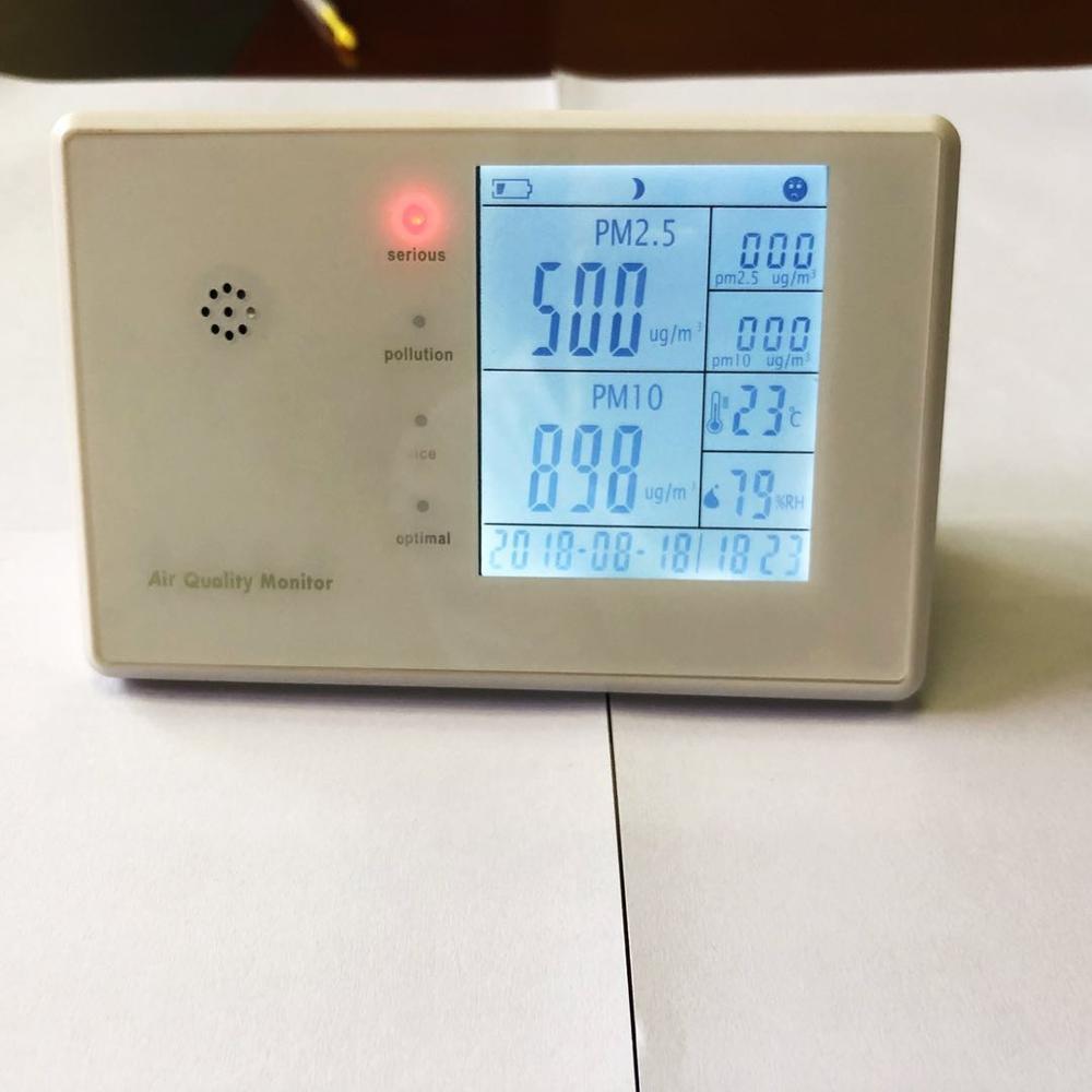 Система мониторинга окружающей среды счетчик пылевых частиц без металлоискателя, детектор утечки газа с завода