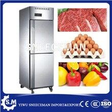 Réfrigérateur congélateur vertical à 2 portes pour usage commercial