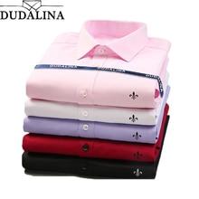 Dudalina 2020 marka erkek gömlek erkek elbise gömlek erkek moda rahat uzun kollu iş resmi gömlek Camisa sosyal Masculina