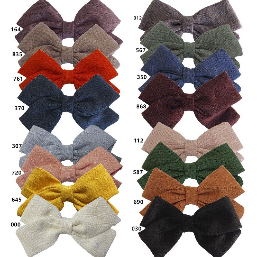 20 uds/lote niñas tela arco diademas pelo clips Nylon diademas para niños y niñas accesorio pelo