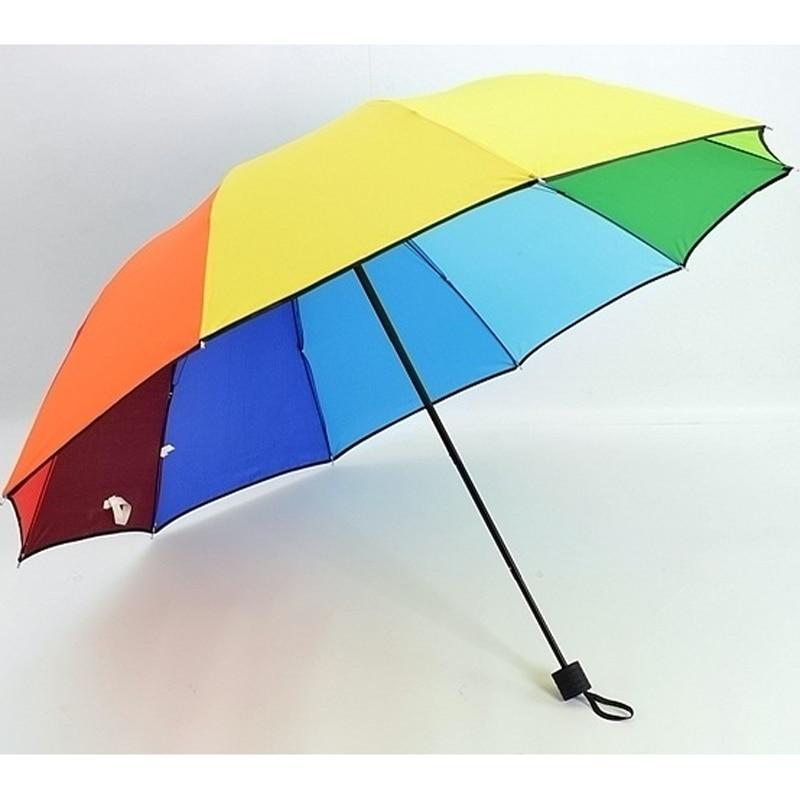 New Extra Large Umbrella for Rain Colorful Rainbow Windproof Big Umbrella Family Rainy Days Outdoors Umbrellas 10 ribs SP060