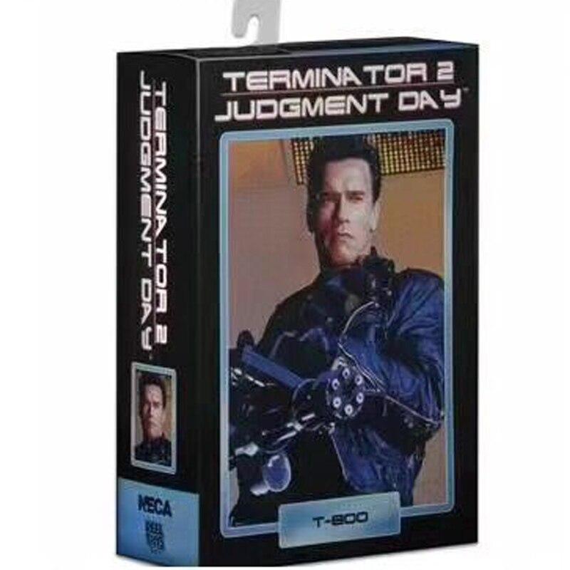 "NECA Terminator 2 Judgment Day T-800 Arnold Schwarzenegger PVC Action Figure Collectible Model Toy 7"" 18cm"