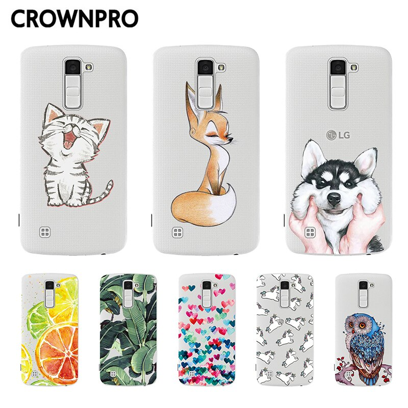 Защитный чехол CROWNPRO для LG K10 2016, мягкий силиконовый чехол-накладка для телефона LG K 10 K10 LTE K420N K430 K430DS
