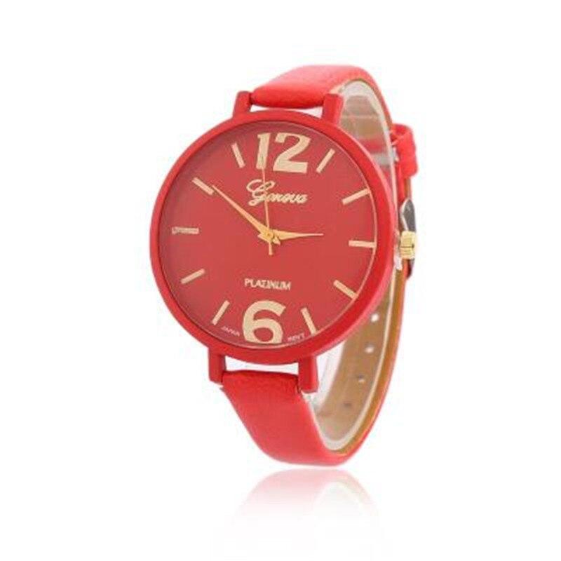 Timezone New Casual Checkers Faux Leather Quartz Analog Wrist Watch Luxury pulseira relogio feminino